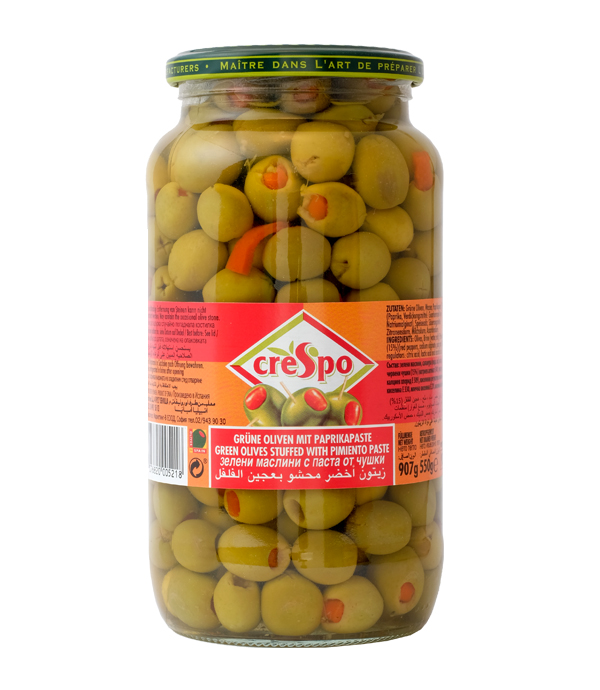 sliced green olives with pimento